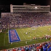 Kansas fans watch the Jayhawk football team on Saturday, Sept. 6, 2014 at Memorial Stadium.