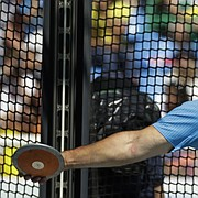 United States' Mason Finley, a former University of Kansas athlete, makes an attempt in the men's discus throw final during the athletics competitions of the 2016 Summer Olympics at the Olympic stadium in Rio de Janeiro, Brazil, Saturday, Aug. 13, 2016.