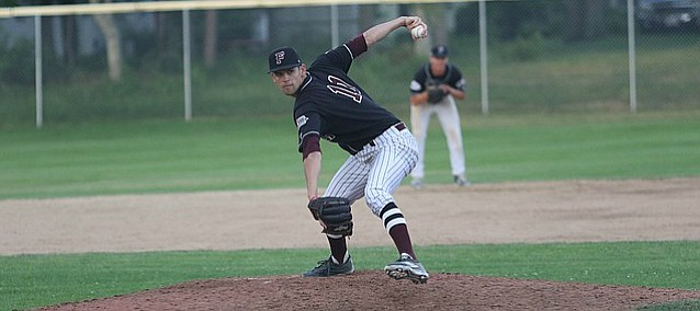Kansas pitcher Stephen Villines readies a pitch for the Falmouth Commodores in the Cape Cod League on June 15, 2016 against Yarmouth-Dennis.