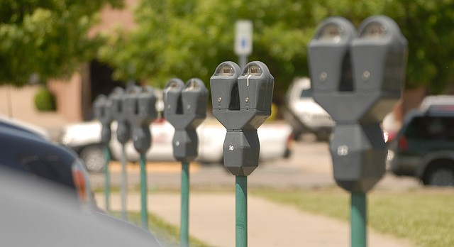 A line of parking meters is pictured in this file photo from May 2007.