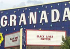 Stolen banner returned to ECM; Granada Theater posts 'Black Lives Matter' on its marquee
