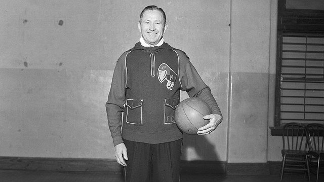 Phog Allen portrait, 1950s. Photo courtesy of University Archives, Kenneth Spencer Research Library, KU