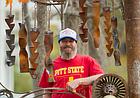Rusty sculpture evokes history of Rhode Island Street site's past