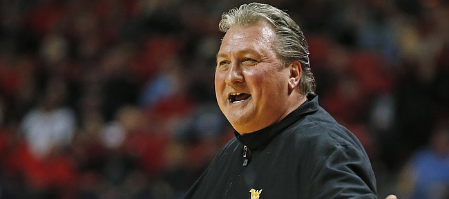 West Virginia coach Bob Huggins yells out after a foul during an NCAA college basketball game against Texas Tech, Tuesday, Jan. 3, 2017, in Lubbock, Texas.