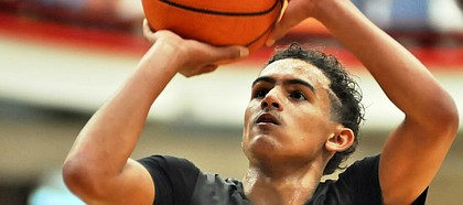 Norman (Okla.) North High senior Trae Young, who committed to Oklahoma over Kansas and others on Thursday, Feb. 16, 2017.