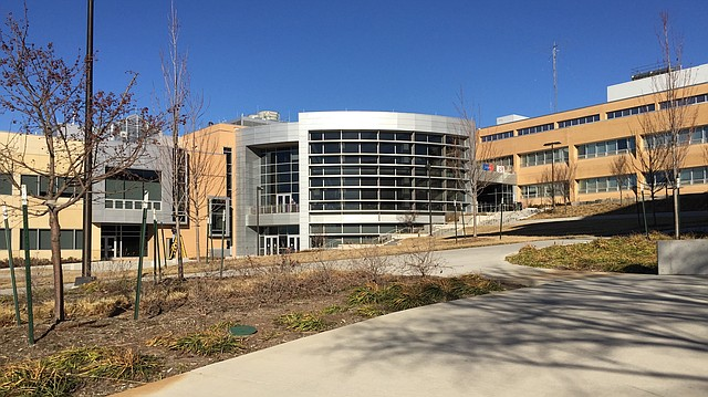The School of Engineering complex on the University of Kansas campus is pictured Friday, Feb. 17, 2017. The newest building, in the center, opened in August 2015.