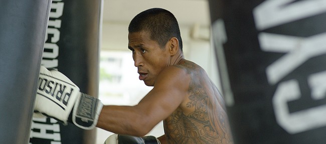 "Noy Khaopan is the central figure in the Showtime documentary,  ""Prison Fighters: 5 Rounds to Freedom,"" directed by former Kansas football player Micah Brown."