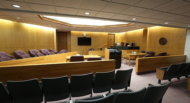 This file photo from September 2016 shows the Division IV courtroom at the Douglas County Judicial and Law Enforcement Center.