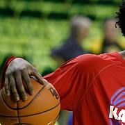 Kansas freshman Josh Jackson warms up prior to a game against Baylor, Saturday, Feb. 18, 2017, at the Ferrell Center in Waco, Texas.