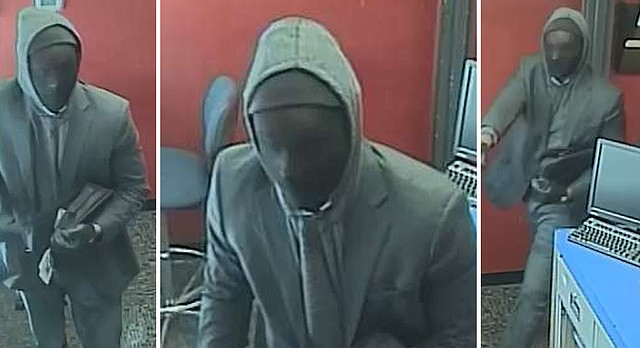 Lawrence Police are asking for the public's help in identifying a man accused of robbing a U.S. Bank, 1807 W. 23rd St., Monday, March 6, 2017.