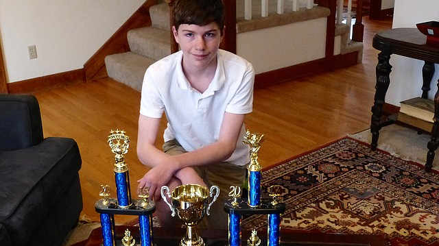 Bishop Seabury Academy eighth-grader Peter Westbrook won the state spelling bee March 4, 2017 in Topeka in a 32-round contest against second-place finisher Joseph Ward of the Perry-Lecompton school district. He will travel during the last week of May to Washington, D.C., for the Scripps National Spelling Bee.