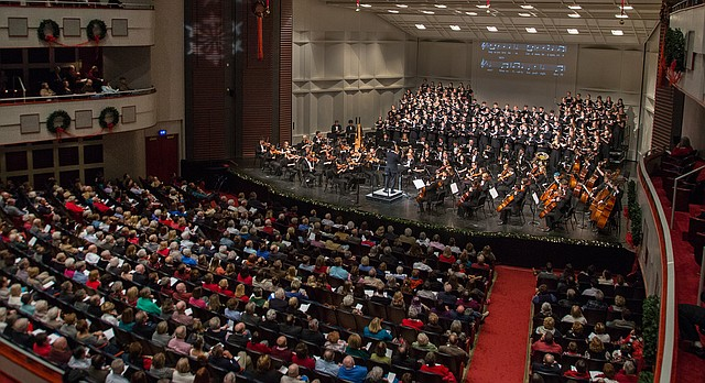 In this file photo from Dec. 6 2015, the Lied Center hosts the annual KU School of Music Holiday Vespers concert.