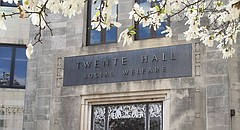 Twente Hall, home to the School of Social Welfare, 1545 Lilac Lane on the KU campus.