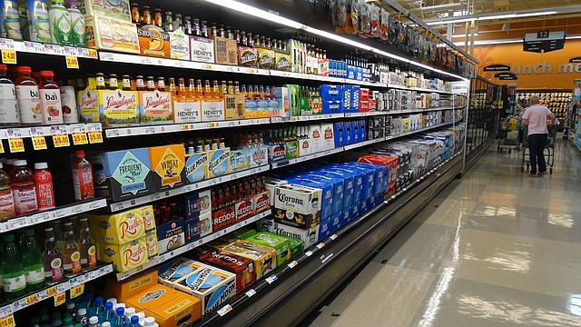 The beer aisle in grocery stores across Kansas, including this one at the Dillons store at Sixth and Wakarusa, have been drawing fewer and fewer customers in recent years because they can only stock beer with 3.2 percent alcohol, also known as cereal malt beverage.