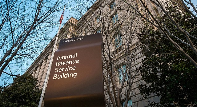 This April 13, 2014, file photo shows the Internal Revenue Service (IRS) headquarters building in Washington. (AP Photo/J. David Ake, File)