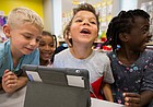 In one Sunset Hill classroom, kindergartners are using technology to connect with kids across the globe
