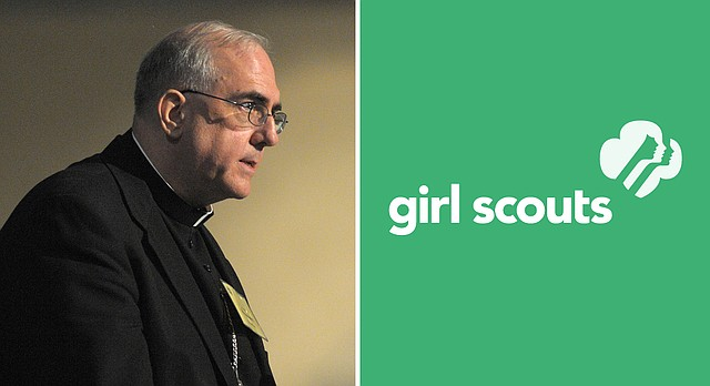 Archbishop Joseph F. Naumann, seen in this file photo from 2008, has directed the Kansas City, Kansas, archdiocese to sever ties with Girl Scouts and end cookie sales, citing philosophical concerns with the organization.