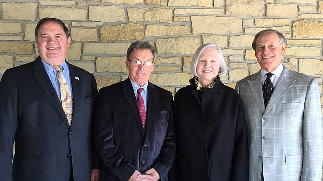 Larry McElwain, Mike Amyx, Jean Milstead and Miles Schnaer were named Thursday, May 4, 2017, as inductees into the Lawrence Business Hall of Fame.