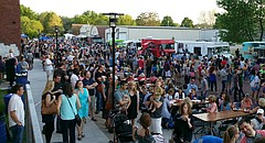 This panoramic file photo from May 2, 2015, shows the second annual Lawrence Food Truck Festival Saturday evening in east Lawrence.