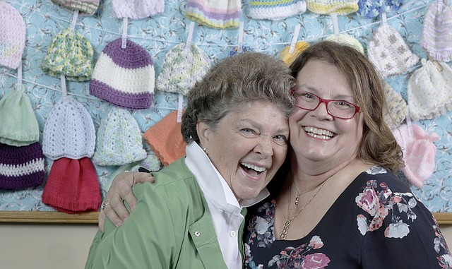 Two of the longest-employed nurses at Lawrence Memorial Hospital — Vickie Friel, left, and Sylvia Black — decided when they were young that they would enter the nursing profession. This week, LMH is celebrating National Nurses Week.
