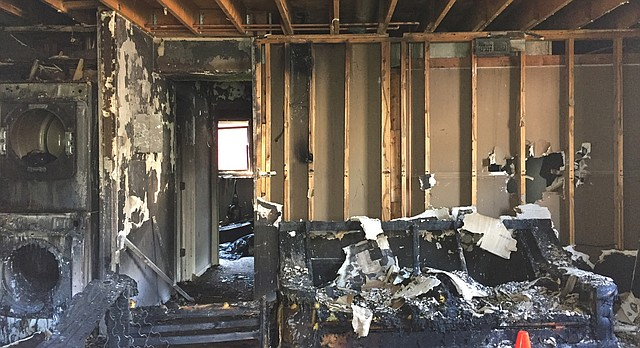 A fire in an apartment complex at 521 Minnesota St. on Monday night left one person hospitalized and the building seriously damaged, said Lawrence-Douglas County Fire Medical Division Chief James King.