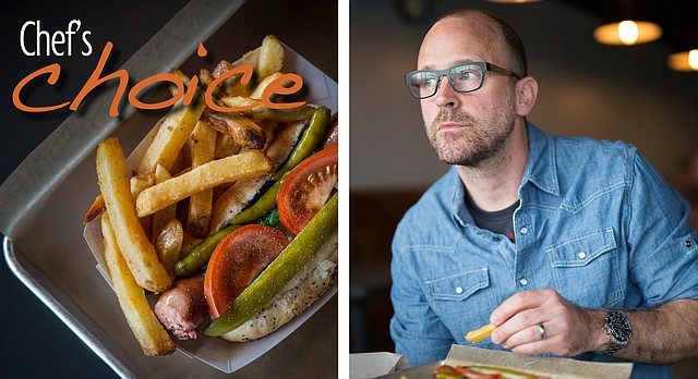 Chef's Choice: The Chicago dog at Leeway Franks, 935 Iowa St., chosen by owner-chef Rick Martin, of Limestone Pizza, 814 Massachusetts St.