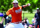 Long, left-handed power pitcher/hitter Conner VanCleave out of Holcomb High has Kansas coach Ritch Price excited about his prospects as both a pitcher and position player. (Photo courtesy of Garden City Telegram)