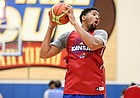 Kansas forward Dedric Lawson (1) pulls down a rebound while running drills with the post players during an open practice on Tuesday, July 11, 2017. The Jayhawks are preparing for four early-August exhibition games in Italy.