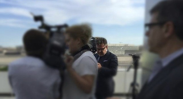 "In this photo provided by Radio Free Europe/Radio Liberty, Rinat Akhmetshin is photographed at the Newseum in Washington, June 13, 2016 after a documentary screening. Rep. Adam Schiff, ranking member on the Senate Intelligence Committee says reports that a second Russian person was in a meeting with Donald Trump Jr. last summer ""adds another deeply disturbing fact about this secret meeting."" Akhmetshin confirmed his participation to The Associated Press on Friday, July 14, 2017."
