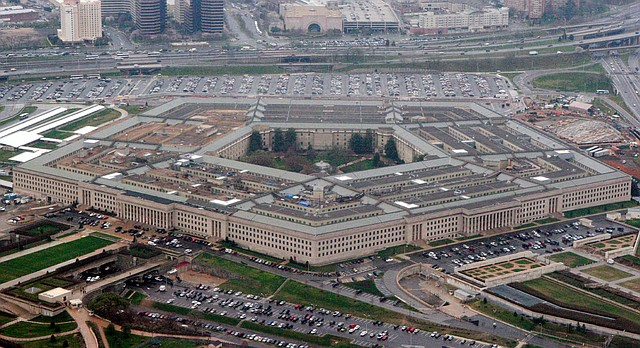 In this March 27, 2008 file photo, the Pentagon is seen in this aerial view in Washington. (AP Photo/Charles Dharapak, File)