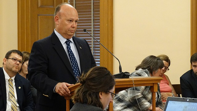 Kansas Secretary of Corrections Joe Norwood tells an interim legislative committee Thursday, Aug. 3, 2017 that low wages are making it difficult for his agency to attract and retain correctional officers. But he denied that staffing shortages are related to a series of recent violent incidents at the El Dorado Correctional Facility.