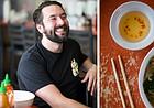 Leeway Franks owner Lee Meisel is shown at Little Saigon Cafe.