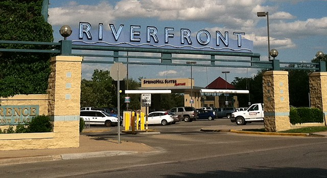 The west side of Riverfront Plaza is pictured in this file photo from 2012.