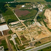 The former Farmland site is seen in this aerial photograph on Monday, July 1, 2013.