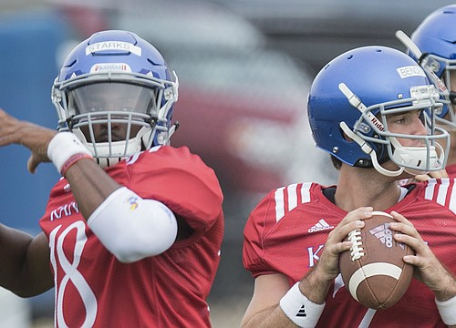 Kansas backup QBs Starks and Fallin bring different strengths to field