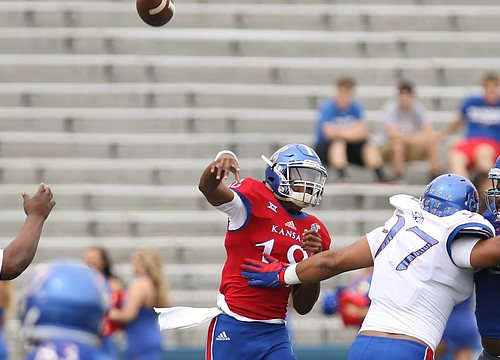 Spotlight turns to reserves at KU football's Fan Day practice