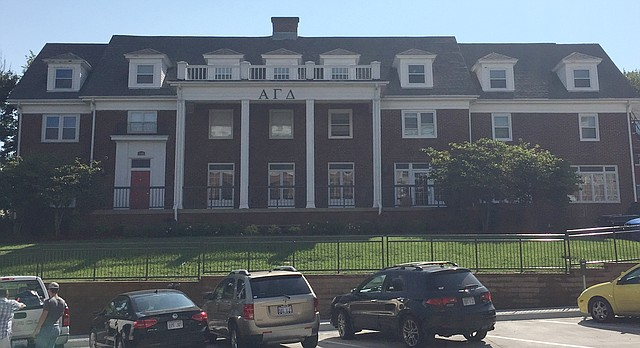 The former Epsilon Beta chapter of Alpha Gamma Delta sorority, located at 1100 Indiana St., is pictured Friday, Aug. 25, 2017.