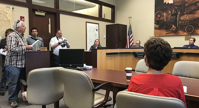 Residents spoke out Thursday at the Leavenworth County Commission meeting in opposition to a proposed Tyson plant being developed in Tonganoxie, just northeast of Lawrence.