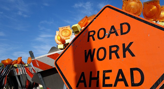 Roadwork in Lawrence and Douglas County.