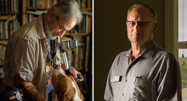 Local Vietnam War veterans John Musgrave, left, and David Longhurst, right, will speak about their experiences in the war, Saturday, Sept. 16, 2017, at the Watkins Museum of History.