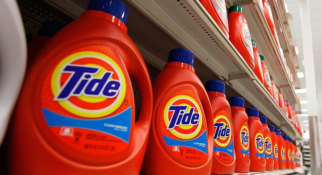 In this April 27, 2011 photo, Procter & Gamble's Tide detergent are displayed at a Target store in Richmond, Va. (AP Photo/Steve Helber)
