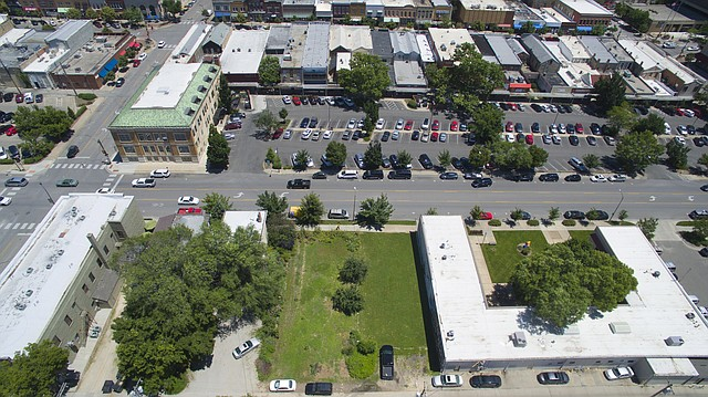 This file photo from June 6, 2016, shows the lot in the 800 block of Vermont Street where Lawrence resident and former city commissioner Bob Schumm wants to build Vermont Place, which would consist of condominiums and office space.