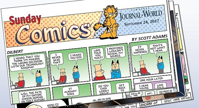 The Journal-World is unveiling a new Sunday comics section, and a new weekday comics page on Monday.
