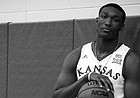 New Kansas commitment David McCormack, the No. 2-ranked center in the 2018 recruiting class, recently posted this picture of himself decked out in KU gear from his unofficial visit this summer. McCormack orally committed to KU on Sunday evening on live television in Virginia.