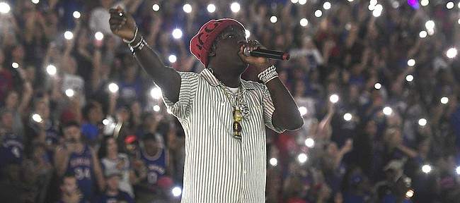 Lil Yachty performs at the 33rd-annual Late Night in the Phog on Saturday, Sept. 30, 2017 at Allen Fieldhouse.