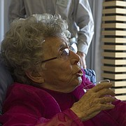 In this file photo from Jan. 13, 2013, Lisa Boley, right, talks with her former pediatrician, Dr. Helen Gilles, during a reception honoring Gilles at the Unitarian Fellowship of Lawrence, 1263 North 1100 Road. Gilles, a longtime Lawrence pediatrician, recently died at age 95.