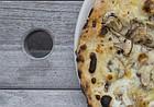The mushroom pizza at Limestone.