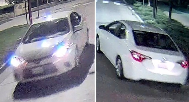 University of Kansas police say four men from this white, four-door Toyota Corolla punched and robbed a man who was walking along Jayhawk Boulevard around 1:45 a.m. Saturday, Oct. 14, 2017.