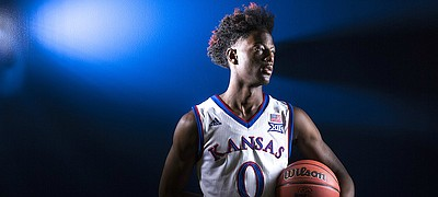 Kansas guard Marcus Garrett