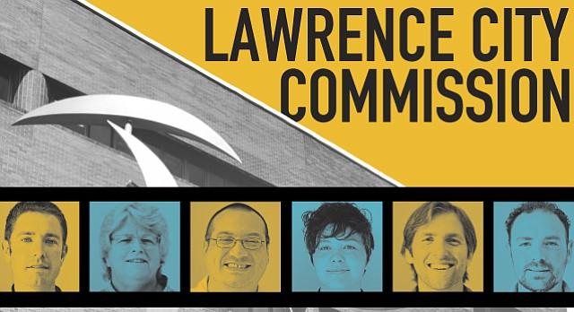 Six candidates — from left, Matthew Herbert, Lisa Larsen, Dustin Stumblingbear, Jennifer Ananda, Mike Anderson and Bassem Chahine — are seeking election to the Lawrence City Commission this year.